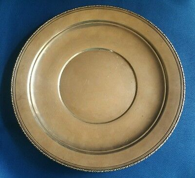 Sterling silver Dinner Plate- 1/2 Pound For Scrap Or Use- Authentic Must See!!