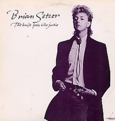 "Brian Setzer The Knife Feels Like... USA 12""  record (Maxi) promo"