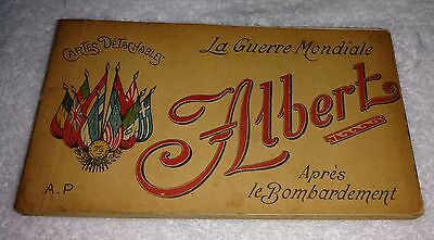 Early 1900's ANTIQUE FRENCH ALBUM BOOK w/BLACK & WHITE POST CARDS FROM WW1