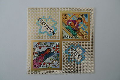 Scouting Bhutan Imperforated Souvenir Sheet Mnh