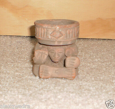 Figurine of the Aztec Gof of Fire Huehueteotl Compact Incence Burner sahumador