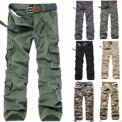 New Military Men's Cotton Cargo Pants Combat Camouflage Camo Army Trousers Lot