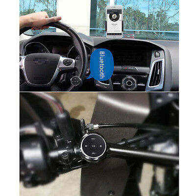 Steering Wheel Remote Control Wireless Bluetooth Media Button for Automobile Car