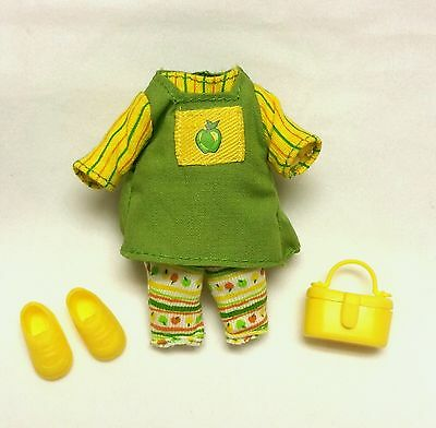 Barbie Sister Kelly doll clothes Apple Fruitastic Top Pants Purse Shoes New