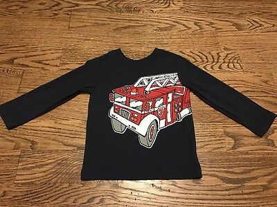The Children's Place Toddlers Boys Navy Graphic Long Sleeve Tee Size 3T