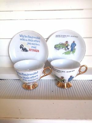 Vintage Novelty Cups And Saucers
