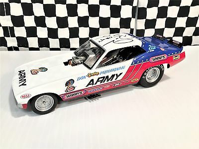 1320 Floppers Don Prudhomme 1970's Barracuda ARMY Funny Car L E 1:24 Bxd-SIGNED