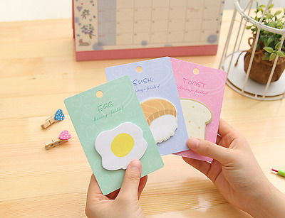 New Post It Bookmark Practical breakfast Sticky Notes Memo Flags Pages Marker
