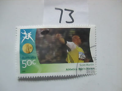N o -73--2006 COMMONWEALTH  GAMES  -USED  50c  VALUES  ---A1  ORDER