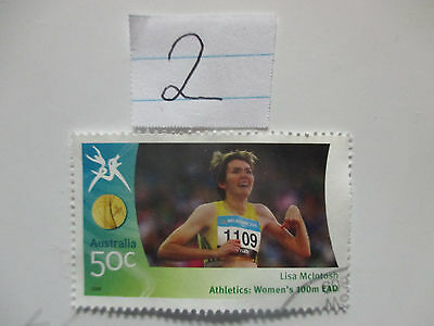N o -2--2006 COMMONWEALTH  GAMES  -USED  50c  VALUES  ---A1  ORDER