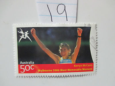 N o -19--2006 COMMONWEALTH  GAMES  -USED  50c  VALUES  ---A1  ORDER