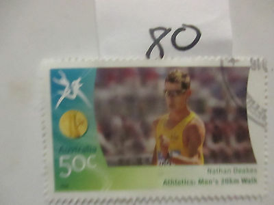 N o -80--2006 COMMONWEALTH  GAMES  -USED  50c  VALUES  ---A1  ORDER