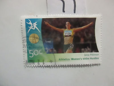 N o -77--2006 COMMONWEALTH  GAMES  -USED  50c  VALUES  ---A1  ORDER
