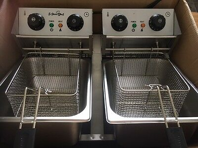 Commercial Deep Fryer Double- 5 Star Chef