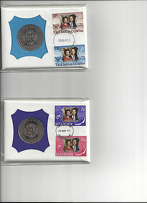 99 company PNC Coin & Stamp Cover for Silver Anniversary of QEII