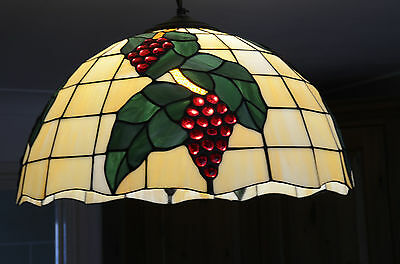 Original Antique glass ceiling light shade 1920's Vintage. Tiffany style lamp