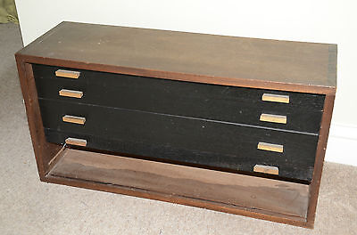 Vintage Wood Engineers Tool Chest/coin/medal Collectors/sewing/craft Box Meccano