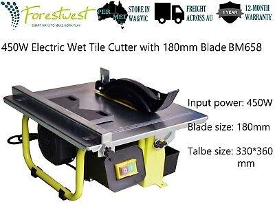 450W Electric Wet Tile Saw Wet Tile Cutter with 180mm Blade Porcelain Ceramic