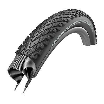 "1x Schwalbe Impac Crosspac 26"" x2.0 Mountain Bike Tire Black Puncture Resistant"