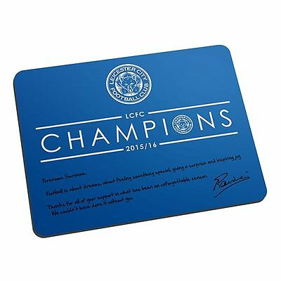 Leicester - Leicester Personalised Champions Mouse Mat Gift - Official Leicester