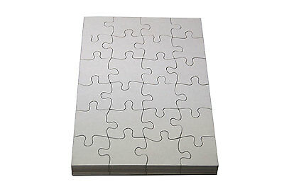 Blank Craft Jigsaws to Decorate A5 (Pack of 16)