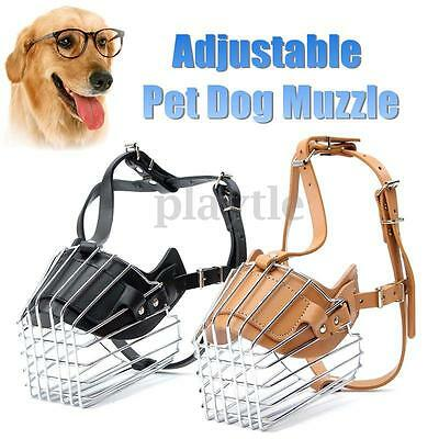 Adjustable Large Dog No Bite Bark Basket Muzzle Cage Mouth Anti Chew Mesh Cover