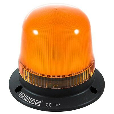 emas IT120Y220 120mm LED Flashing Beacon Orange 220V AC