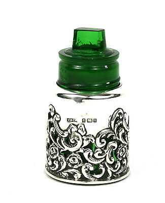 Edwardian Sterling Silver Scent Perfume Bottle 1904 Crown Perfume Company