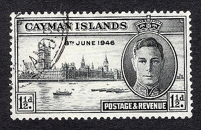 1946 Cayman Islands 1.5d Black Victory SG127 Fine Used R6961
