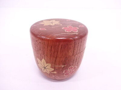 2785539: Japanese Tea Ceremony / Natsume (Tea Caddy) / Makie / Maple & Cherry Bl