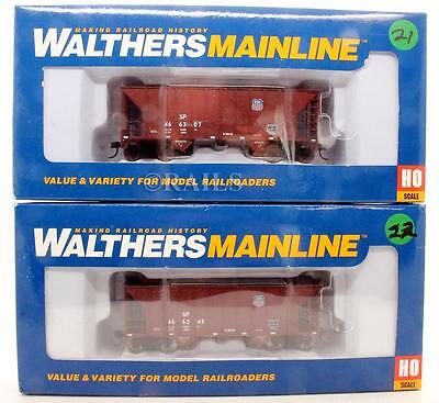 Walthers 'ho' Gauge Pair Of Union Pacific 2 Bay Hopper Cars (8P)