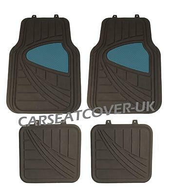 BLACK WITH PINK TRIM FOR ALFA ROMEO MITO 2008 ON UNIVERSAL CAR FLOOR MATS