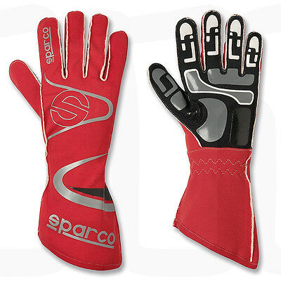 CLEARANCE! Sparco Arrow K-7 Kart Gloves Colour: Red, Size: X-Small