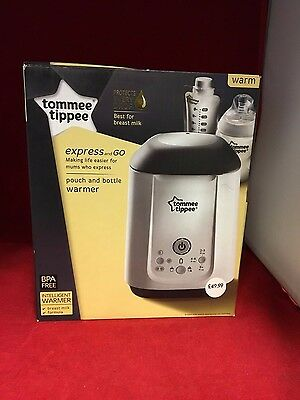 Tommee Tippee Express & Go Bottle & Pouch Warmer - NEW