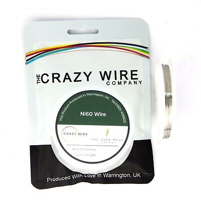 28 AWG (320 Micron - 0.32mm) Ni60 Resistance Wire by The Crazy Wire Company