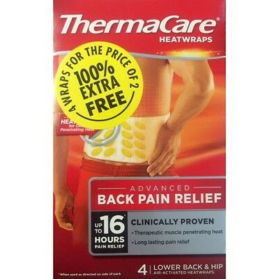 ThermaCare Lower Back Heat Wrap 2 plus 2 free = 4 wraps BEST VALUE(Heat therapy)