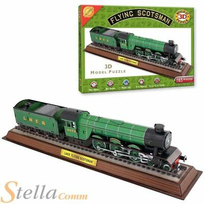 Build Your Own 3D Flying Scotsman Train Puzzle Model Jigsaw 165 Piece