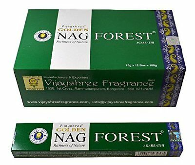 Golden Nag Forest Agarbathi Incense Pack Of 12 - 930542