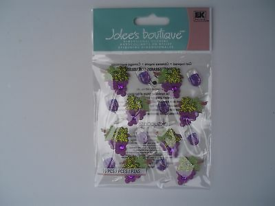 Jolees Boutique Wine Glasses And Grape Repeats Scrap Booking Stickers