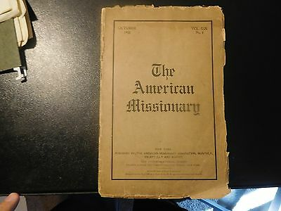 October 1905 The American Missionary Education Southern Negro Black Chinese