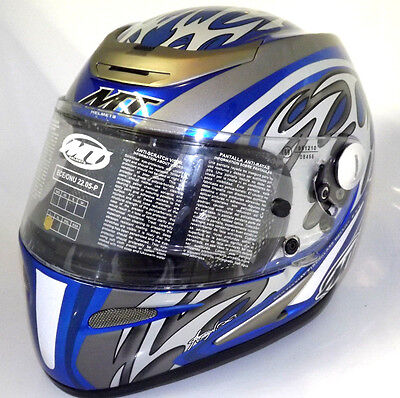 CASCO INTEGRALE RACING MT OXION IN FIBRA  Tg L Tg M MOTO SCOOTER ULTIMI RIMASTI