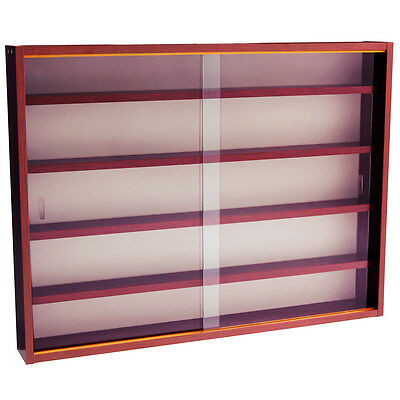 REVEAL - 4 Shelf Glass Wall Display Cabinet - Mahogany MC0497