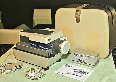 ROLLEI P11 6x6 & 35mm Slide Projector with case - SERVICED