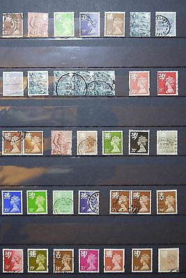 GB/UK/British definitive Regional Stamps OFF PAPER [3]