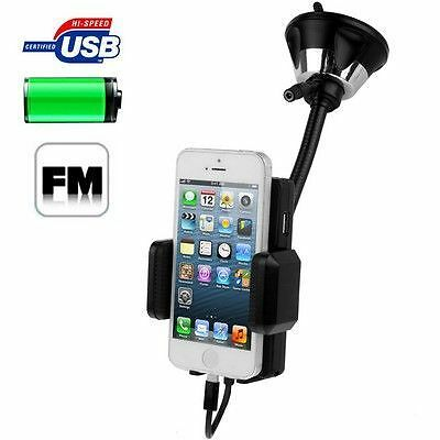 Transmetteur fm iphone 5 kit mains libres ipod touch g5 usb smartphones ventouse