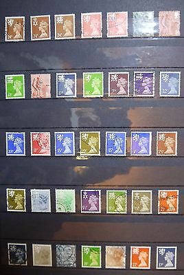 GB/UK/British definitive Regional Stamps OFF PAPER [6]
