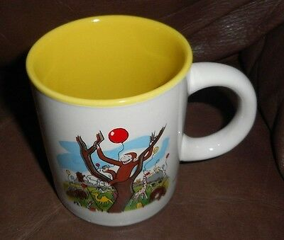 CURIOUS GEORGE Colorful Character Image with Animals White Porcelain Coffee Mug