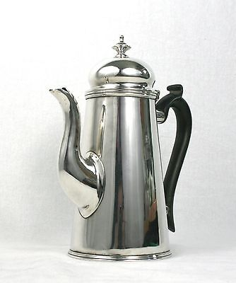 Antique Edwardian Sterling Silver Tea Coffee Pot Georgian Revival Chester 1906
