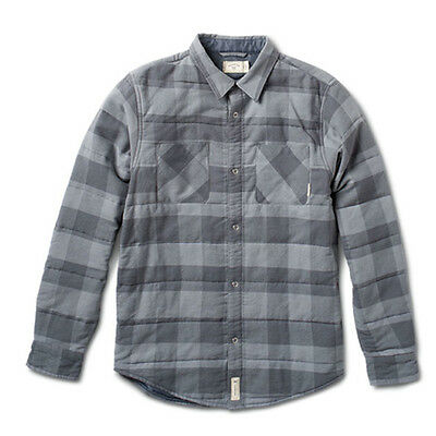 Fourstar Men's Grey Buffalo check Quilted L/S Shirt - CLEARANCE! SRP £68.99