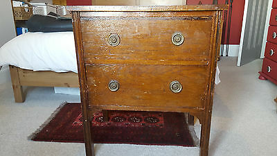Wooden vintage side / lamp table with draws - ideal shabby chic painting project